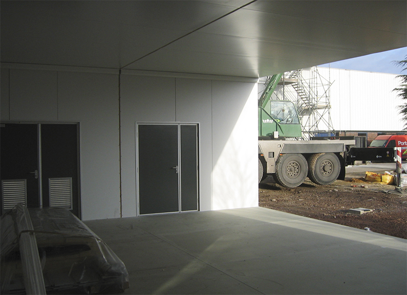 View from inside the new building